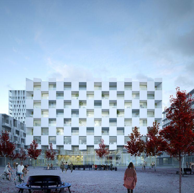Aires mateus vera housing block lyon 1 - Arquitectura lyon ...