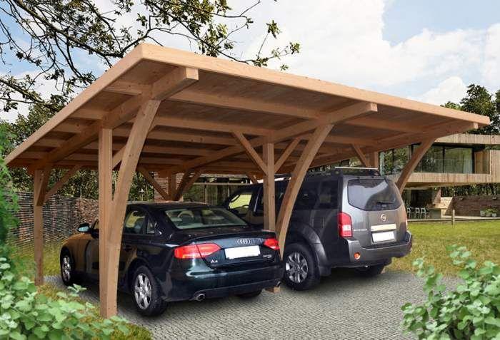 Pergola Cochera De Madera De Abeto De Leroy Merlin Carport Designs Carport Garage Pergola