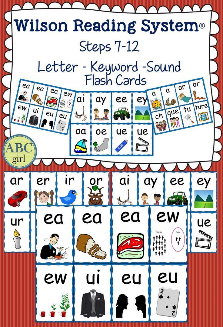 Step by Step Reading System Steps 7-12 Letter-Keyword-Sound Flash ...
