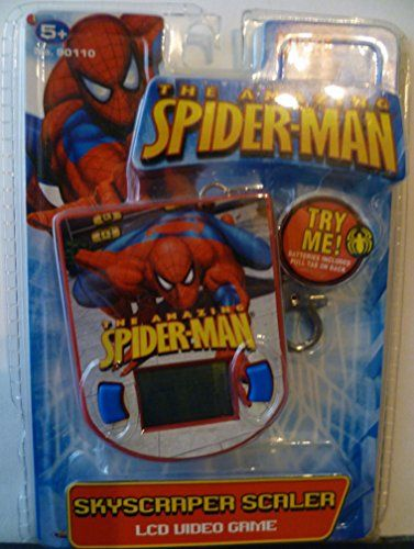 The Amazing Spiderman Skyscraper Scaler LCD Video Game Keychain @ niftywarehouse.com #NiftyWarehouse #Spiderman #Marvel #ComicBooks #TheAvengers #Avengers #Comics