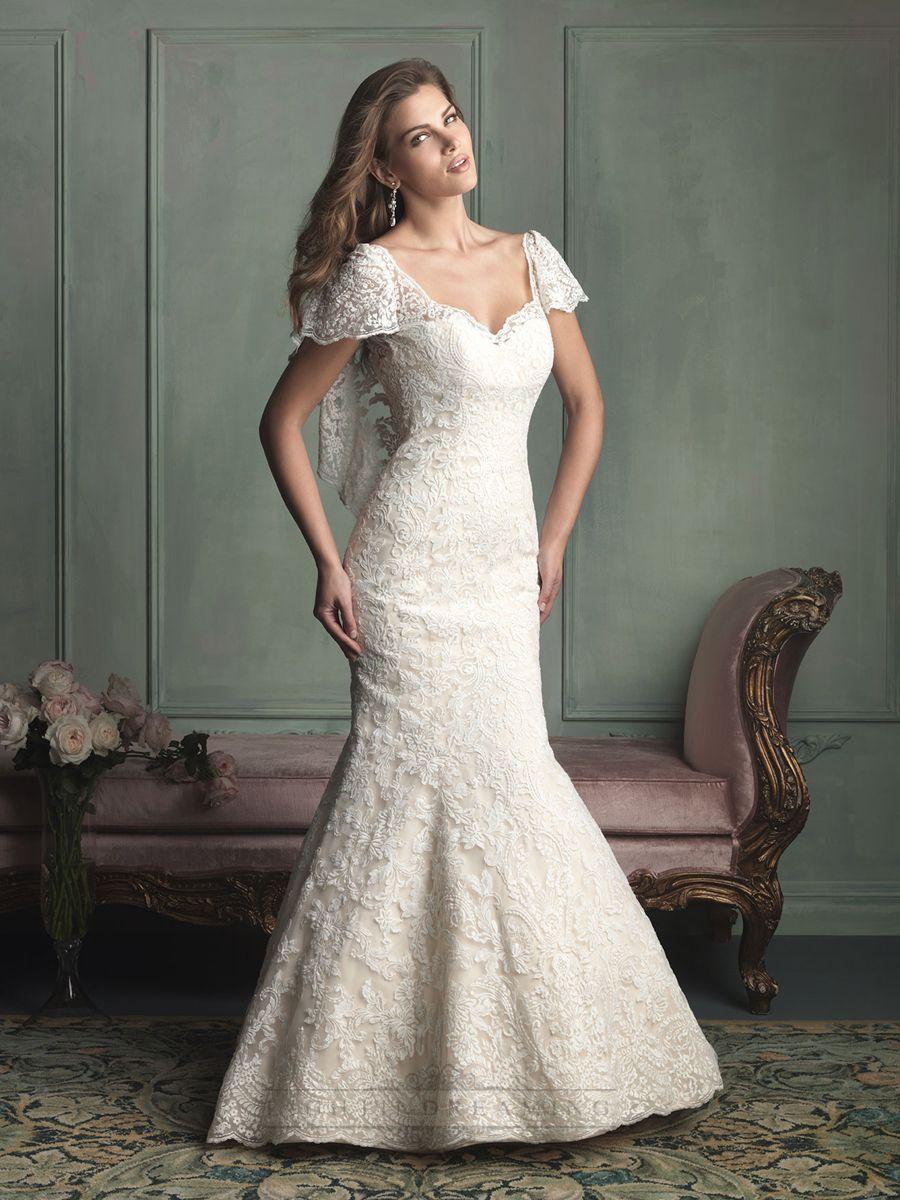 Unique Wedding Dresses With Sleeves : Sleeve wedding dresses mermaid dress