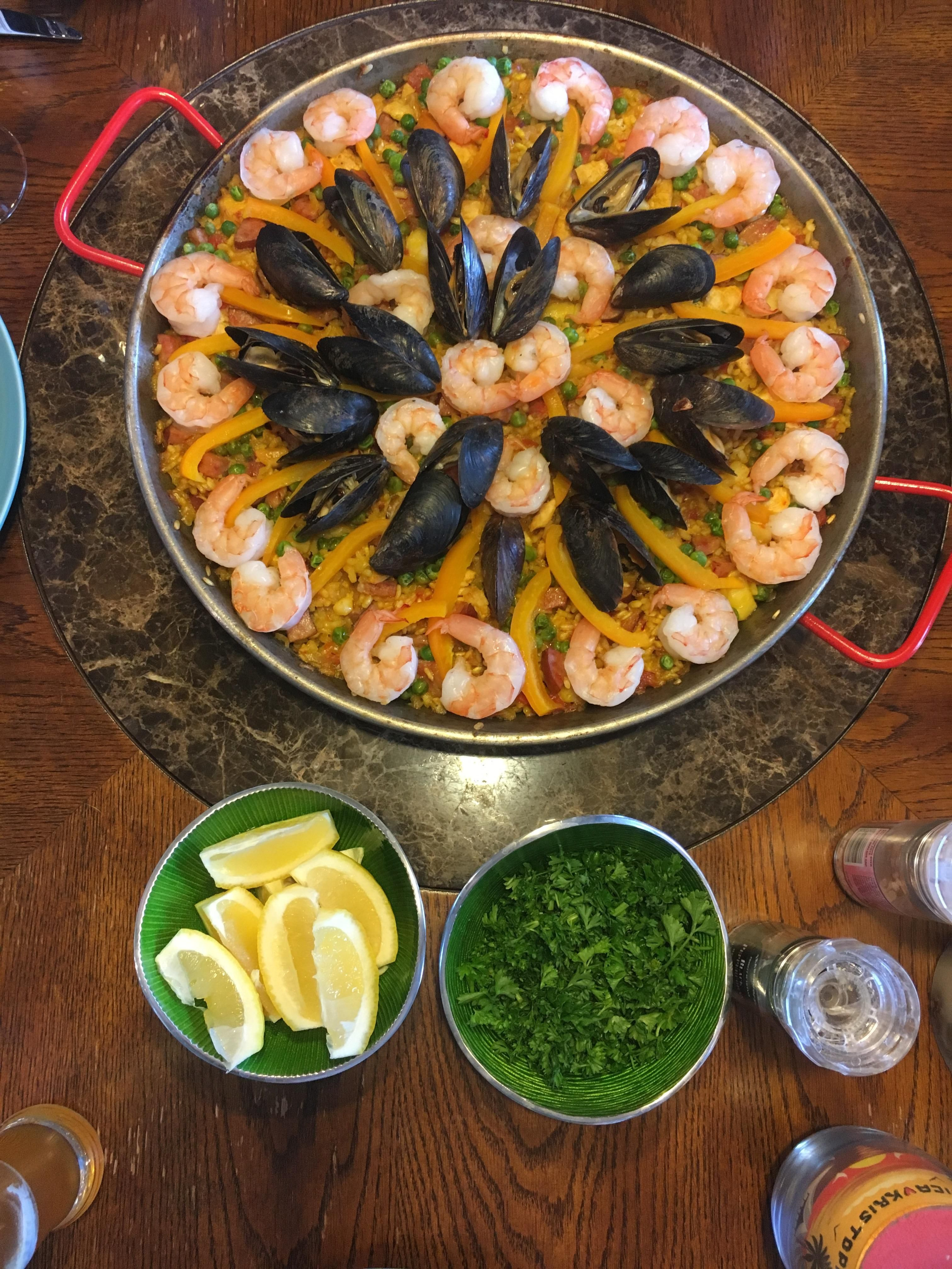 [I ate] Homemade paella recipes food cooking delicious