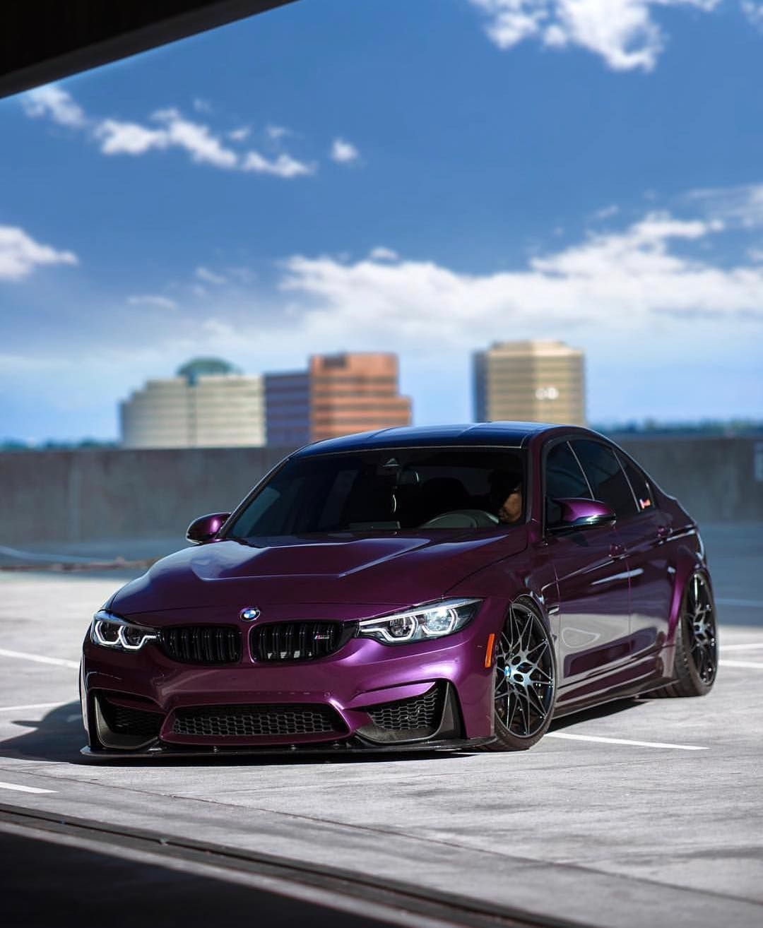 BMW F80 M3 In BMW Individual Purple Silk