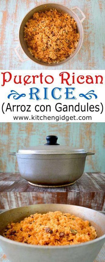Photo of Puerto Rican Rice (Arroz con Gandules) | Kitchen Gidget
