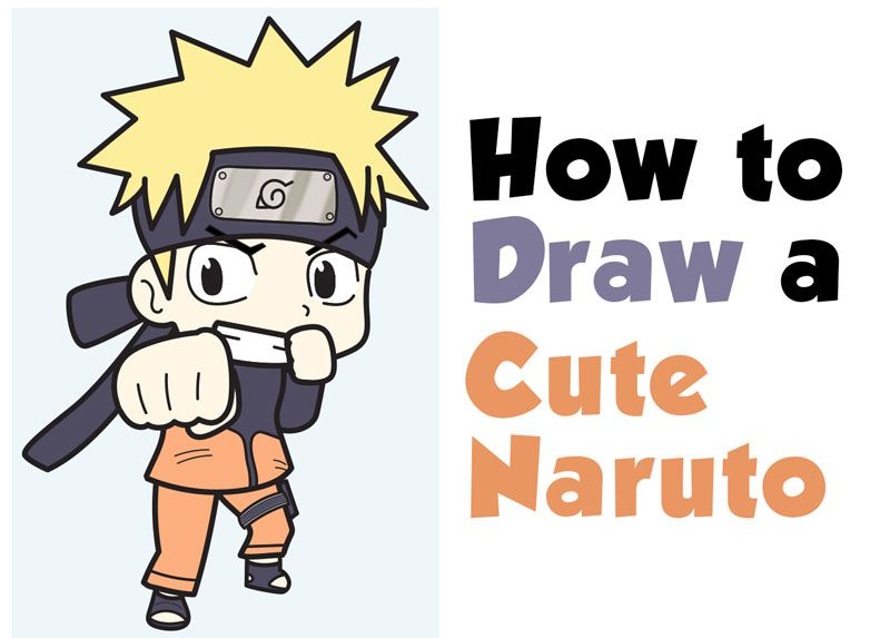 How To Draw A Cute Chibi Naruto Easy Step By Step Drawing Tutorial For Kids Beginners How To Draw Step By Step Drawing Tutorials Drawing Tutorials For Kids Step