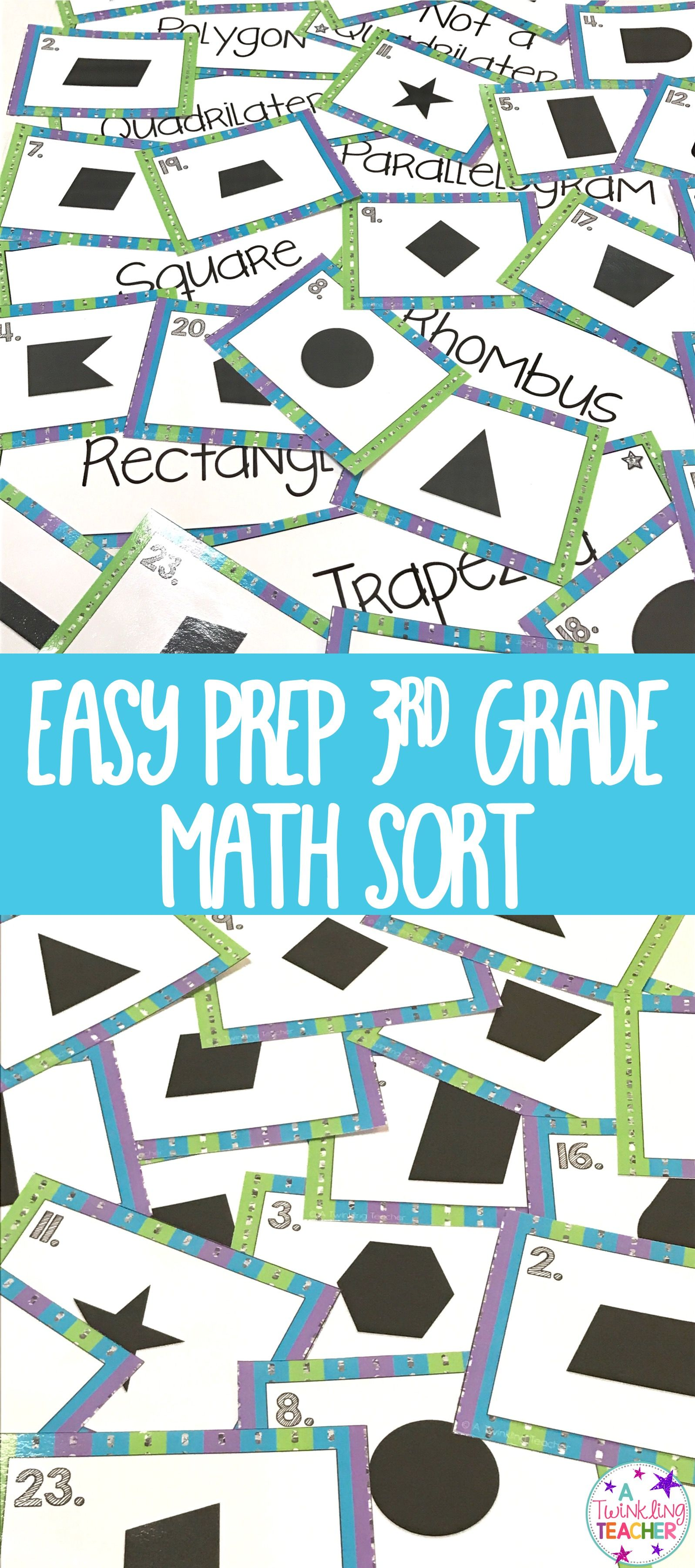 Quadrilateral math center sort | Maths, Recording sheets and Activities