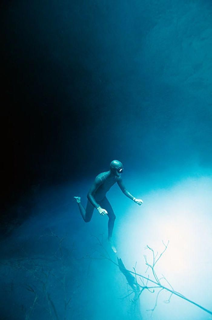 Free Diving: Exploring A Cenote In Mexico #cubaDiverLife