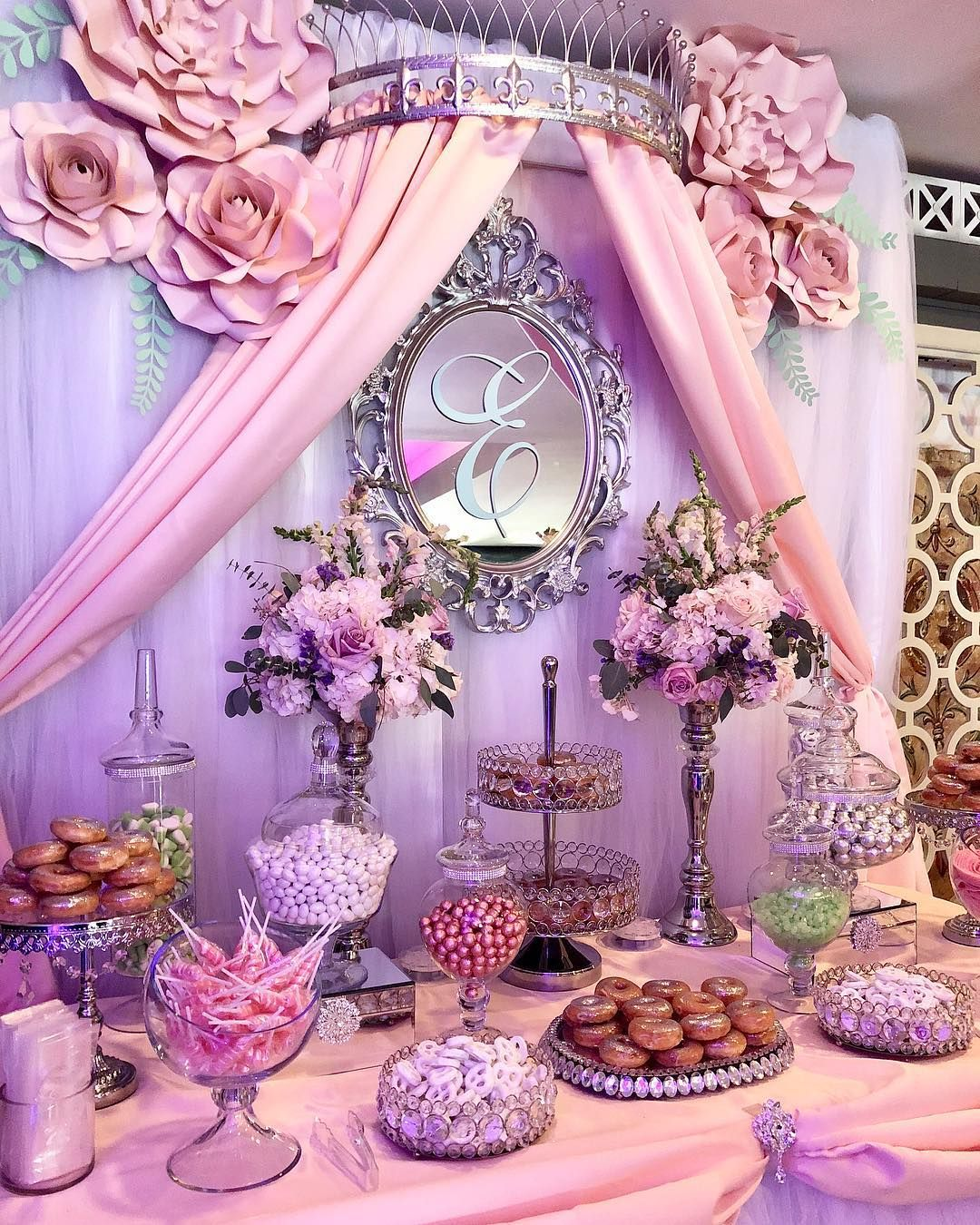 Dessert Bar For Wedding Maybe Baby Shower Very Elegant Quinceanera Decorations Sweet 15 Party Ideas Quinceanera Sweet 15 Party Ideas