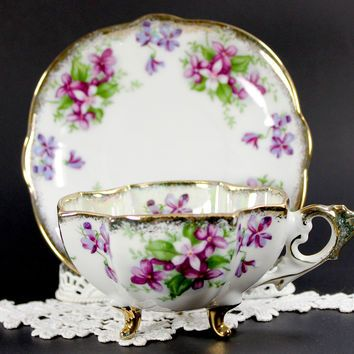 Demitasse 3 Footed Tea Cup, Japanese from The Vintage Teacup