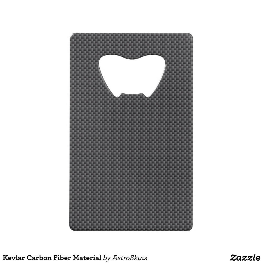 Black And Grey Carbon Fiber Polymer Credit Card Bottle Opener