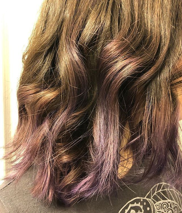 Purple Tips This is perfect for people who want something low maintenance and a