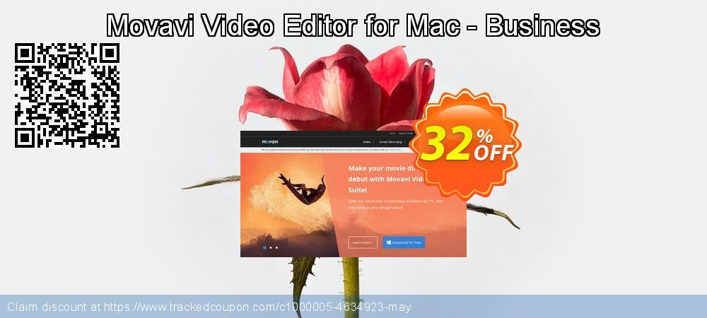 Movavi Video Editor for Mac - Business Coupon 32% discount