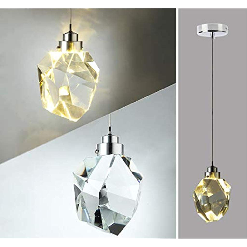 Led Pendelleuchte Kristall Deko Decke Hangeleuchte Wohnzimmer