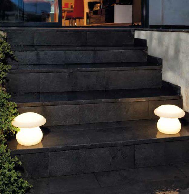 L mpara sin cables con forma de seta lamparas jardin - Lamparas exterior jardin ...