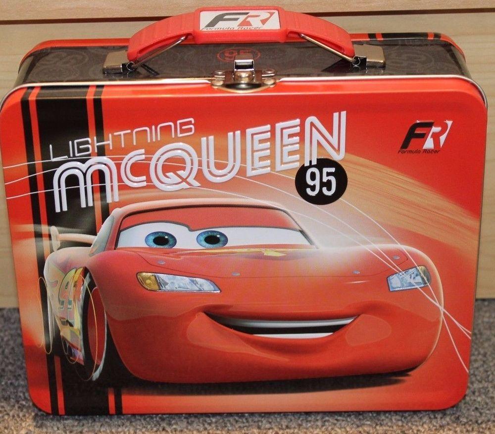 CARS Disney Pixar Tin Lunch Box - New - School -carrying case- Lightning McQueen