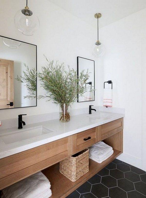 92 Best Of Modern Farmhouse Bathroom Vanity Decoration Ideas In 2020 Diy Bathroom Vanity Modern Farmhouse Bathroom Bathroom Vanity Decor