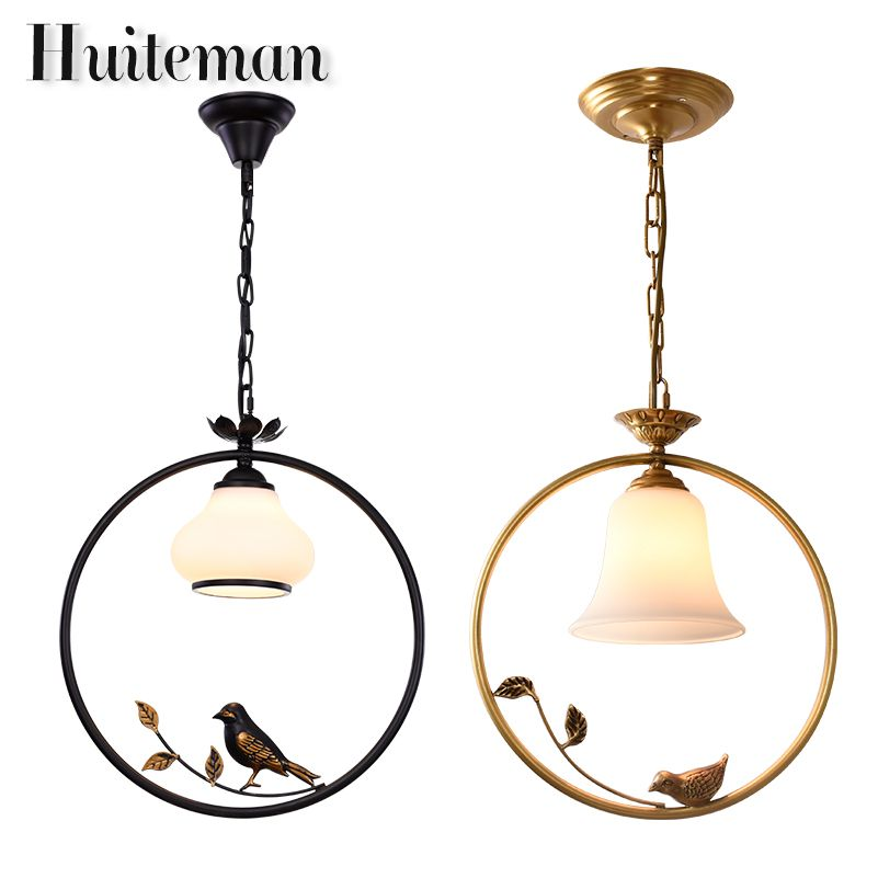 Huiteman Contemporary Modern Kitchen Chandelier For Living Room Gold Bird Chandeliers Lighting Pendant Hanging Ceiling Lamp
