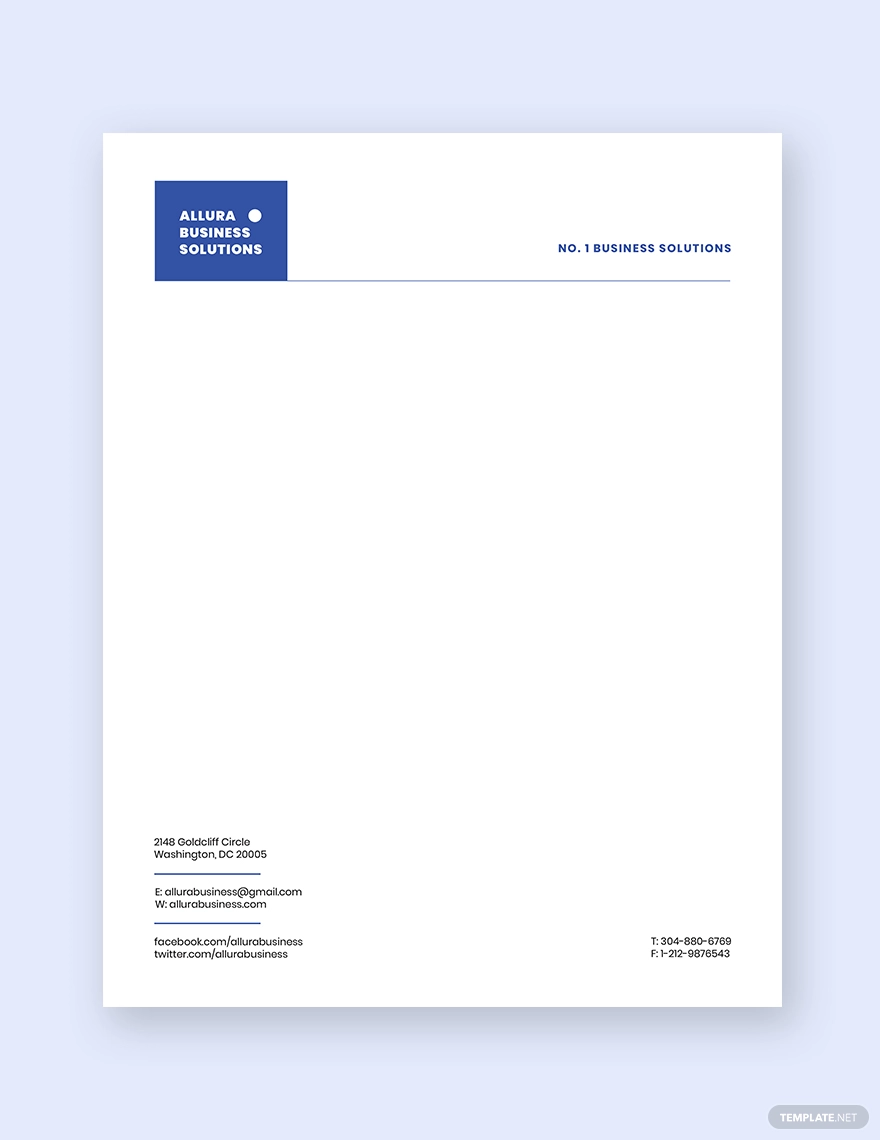 Modern Small Business Letterhead Template Free Pdf Word Doc Psd Indesign Apple Mac Pages Illustrator Publisher Company Letterhead Template Letterhead Template Word Letterhead Business