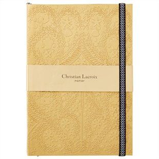 Christian Lacroix Paseo Embossed A5 Notebook — Gold #GoldenGirl #IndigoPaper #IndigoExclusive