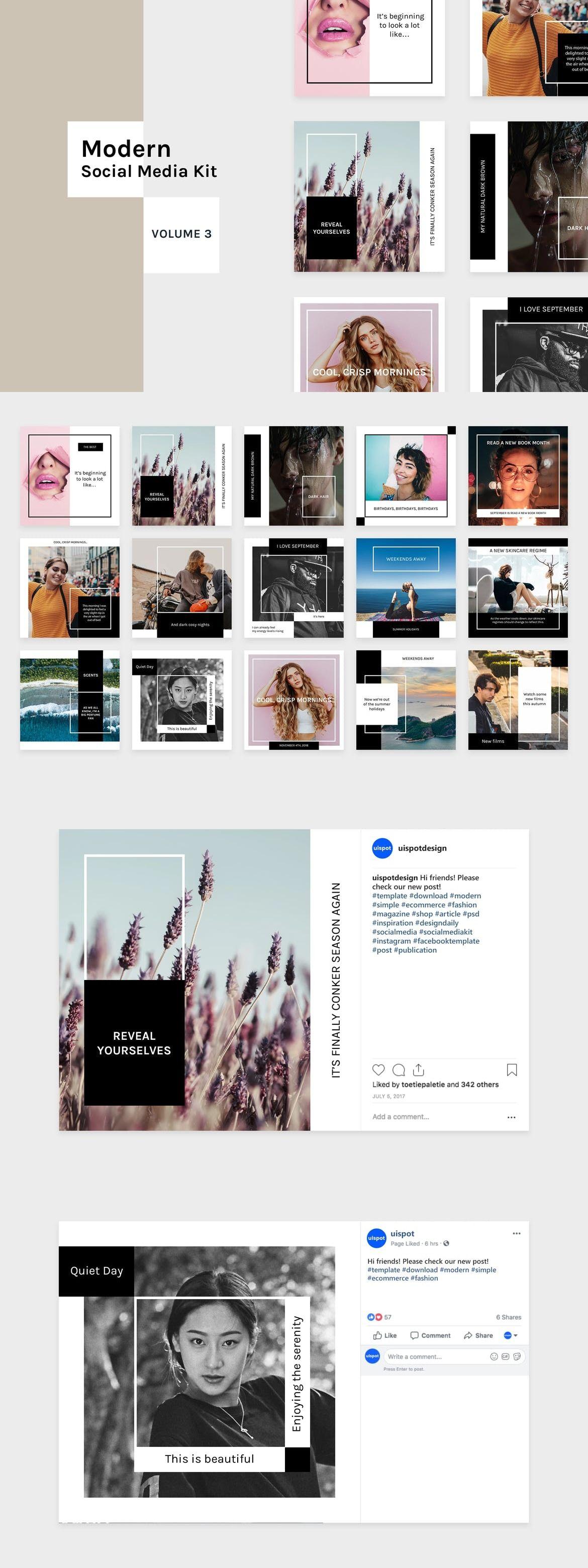 Modern Social Media Kit Vol 3 Template Adobe