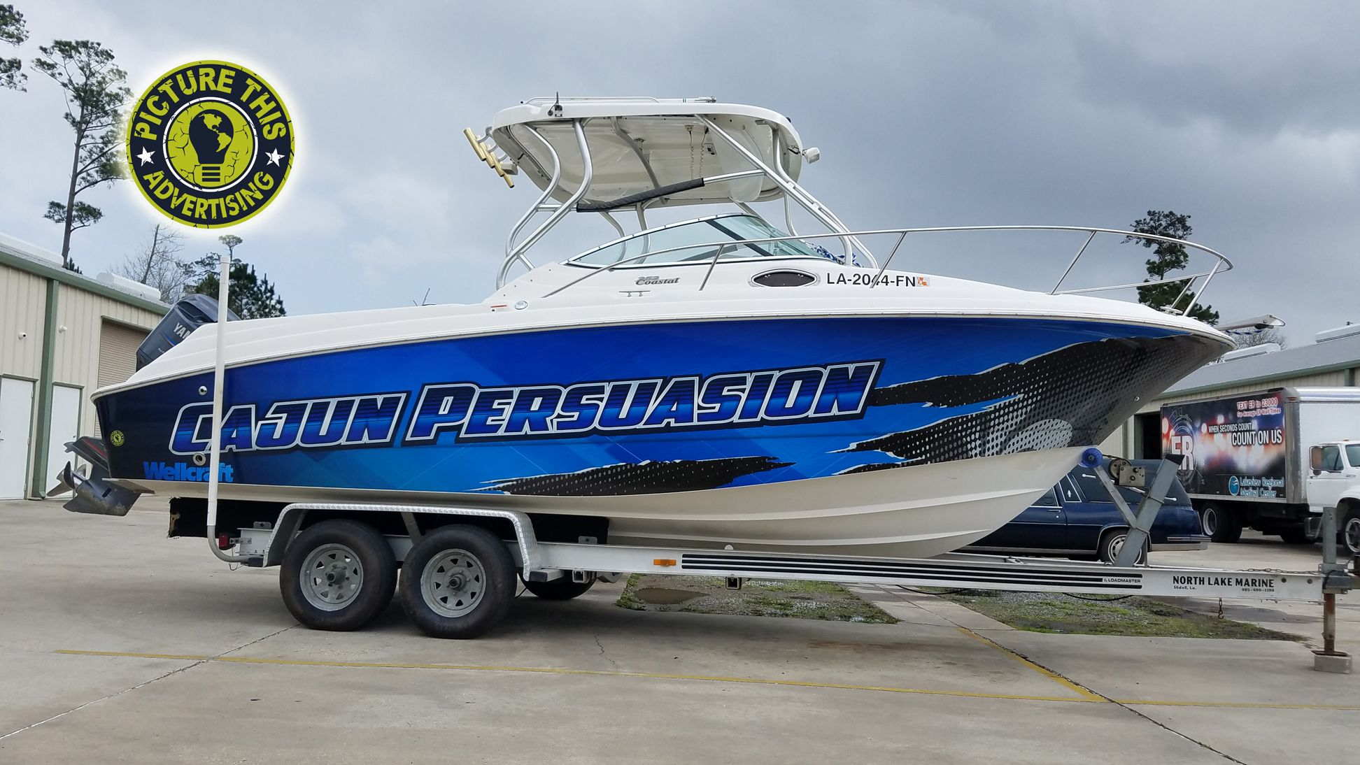 Check out Picture This Advertising for all of your boat wrap