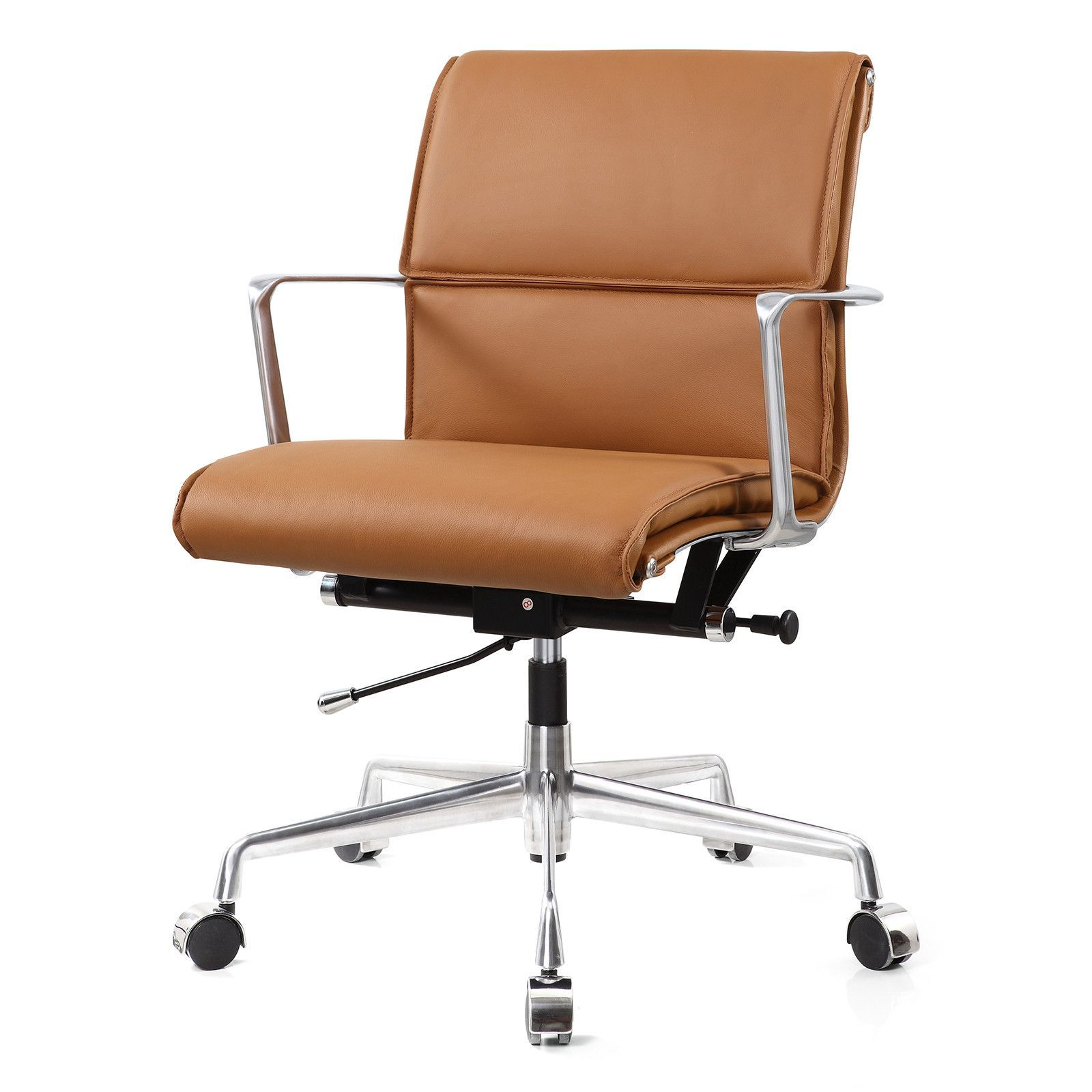 Modern black leather high back puter office desk chair Home