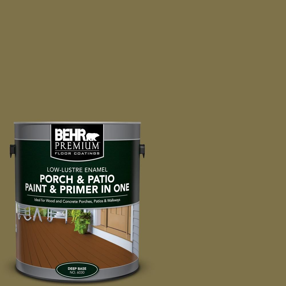 Amazing BEHR Premium 1 Gal. #S330 7 Olive Shade Low Lustre Interior/