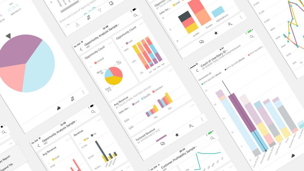 Microsoft power bi ios app updates with a variety of