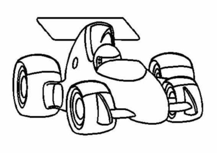 Racecar Indycar With Images Race Car Coloring Pages Cars