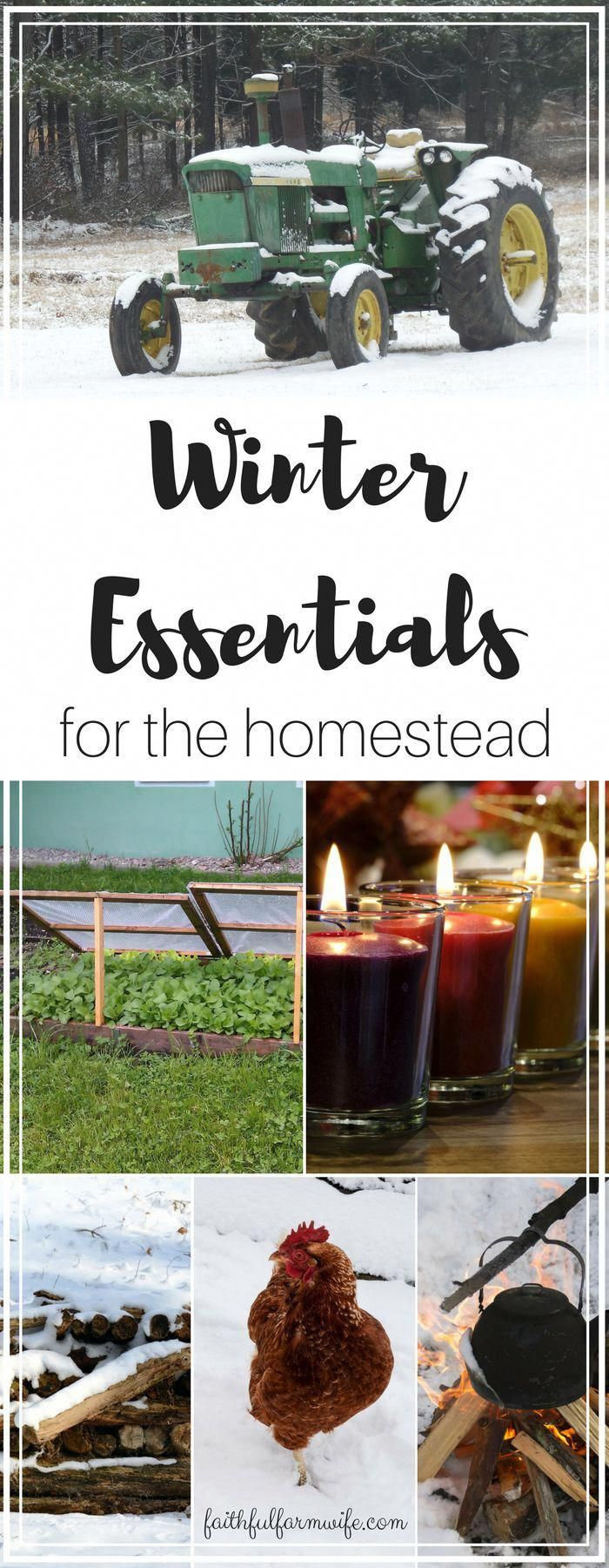 Everything on the homestead has to be prepped to survive the cold or you lose time, money, and lives. What do you consider winter homestead essentials? #surviveonyourown #wintersurvivalsupplies