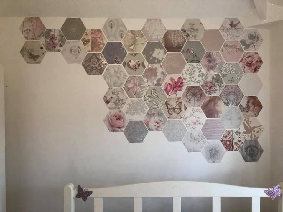 Thrifty Mum Transforms Her Home Using Free Wallpaper Samples Feature Wall Wallpaper Free Wallpaper Samples Wallpaper Samples