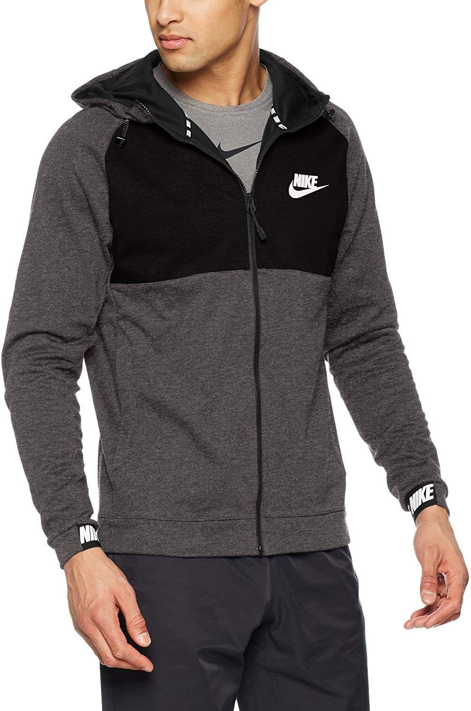 a026ee6562 Nike Advance Veste à Capuche Homme, Charcoal Heather/Black, FR (Taille  Fabricant