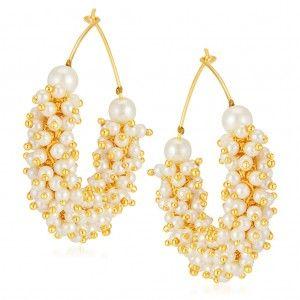 Sukkhi Stunning Gold Plated Earrings Online