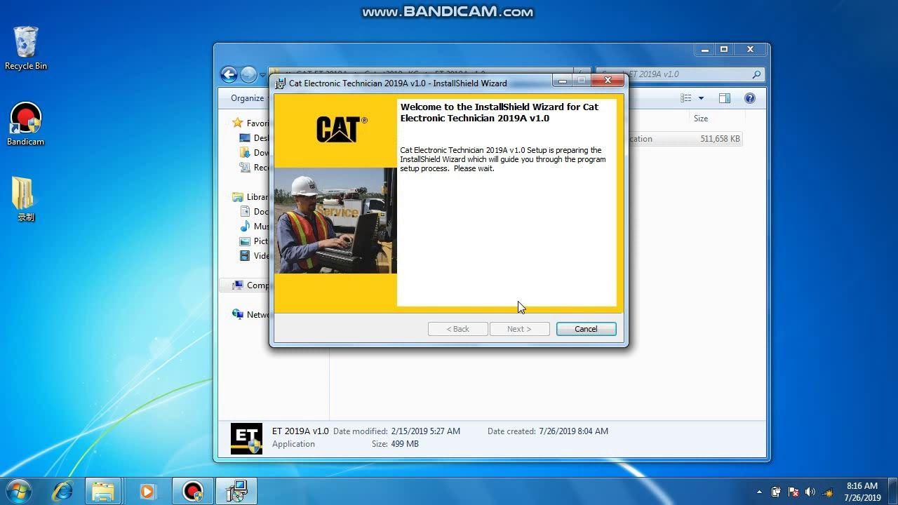 2019 A Cat Caterpillar Et Diagnostic Software Installation Video Electronic Technician Caterpillar Technician