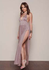 Fringe Trim Maxi Dress Mocha
