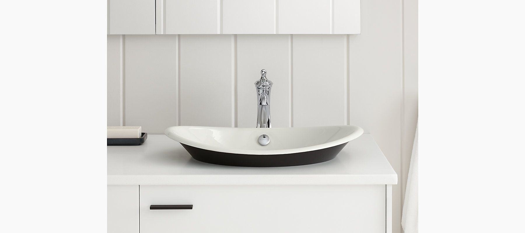 made of enameled cast iron the k5403p5 sink features a