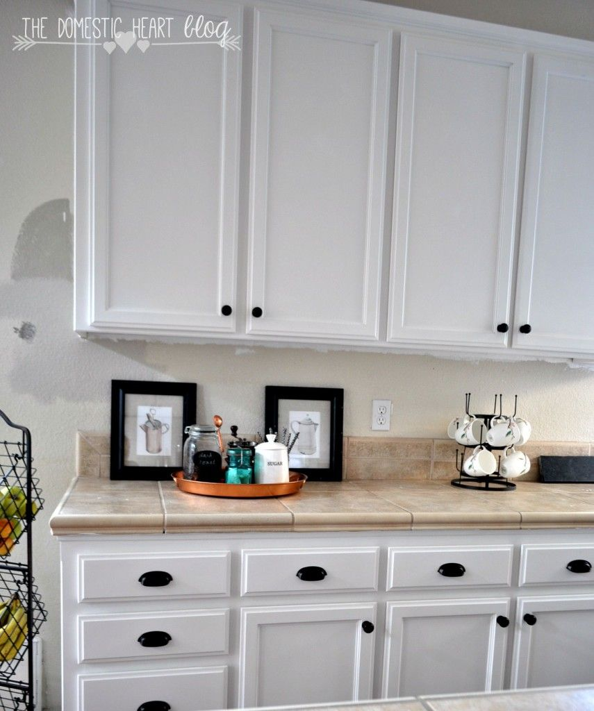 Finally! The reveal of our DIY kitchen cabinet makeover using Annie ...