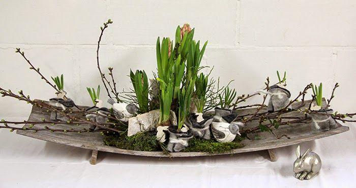 bloemschikken rosalie floral art design pinterest ostern ostern deko und fr hjahr deko. Black Bedroom Furniture Sets. Home Design Ideas