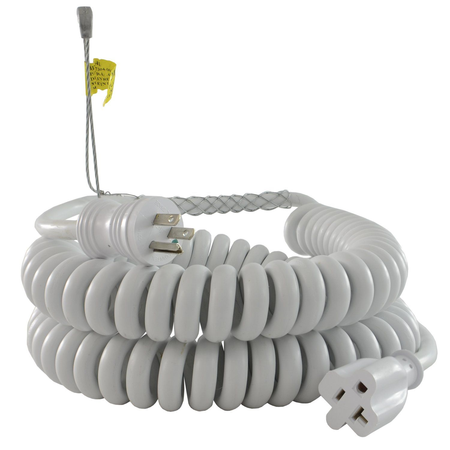Conntek Rl 70046 Gb Upto 15 Feet Heavy Duty 12 3 Coiled Spring Extension Cord 15 20 Amp Female Connector Click On The Image Fo Extension Cord Cord Connector