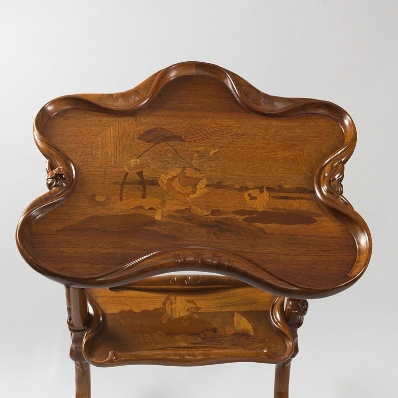 french art nouveau furniture | Emile Gallé French Art Nouveau Table at 1stdibs