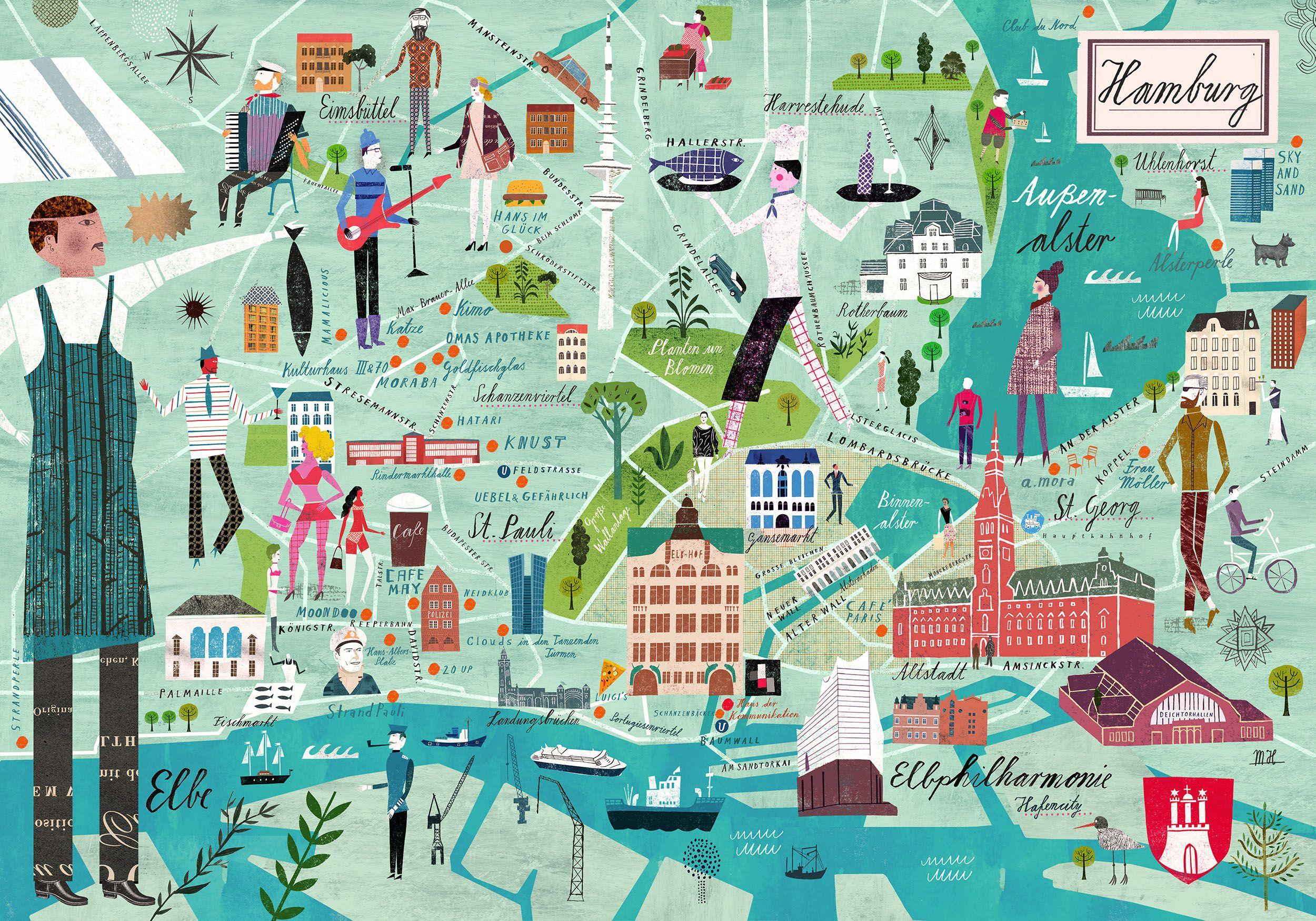 Hamburg Map For Serviceplan Hamburg Tipps