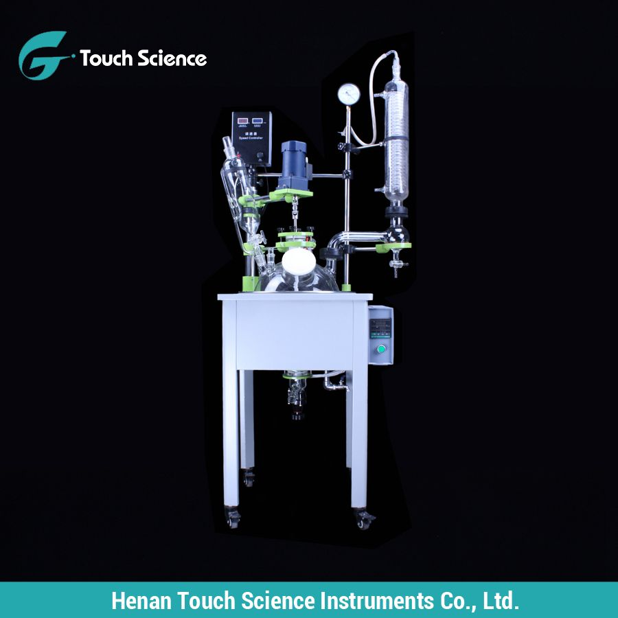 Vacuum Glass Reactor for Synthesis Extraction Distillation
