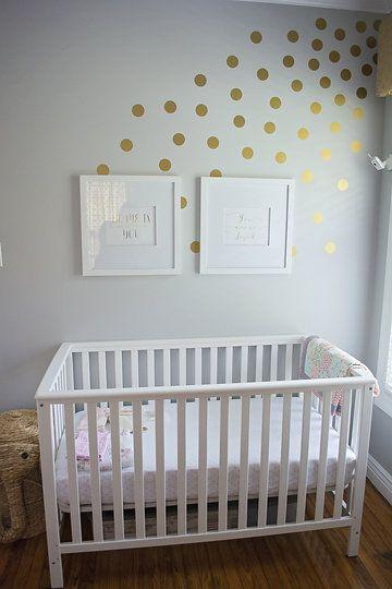 baby's nursery - crib. purchased white storkcraft hillcrest fixed