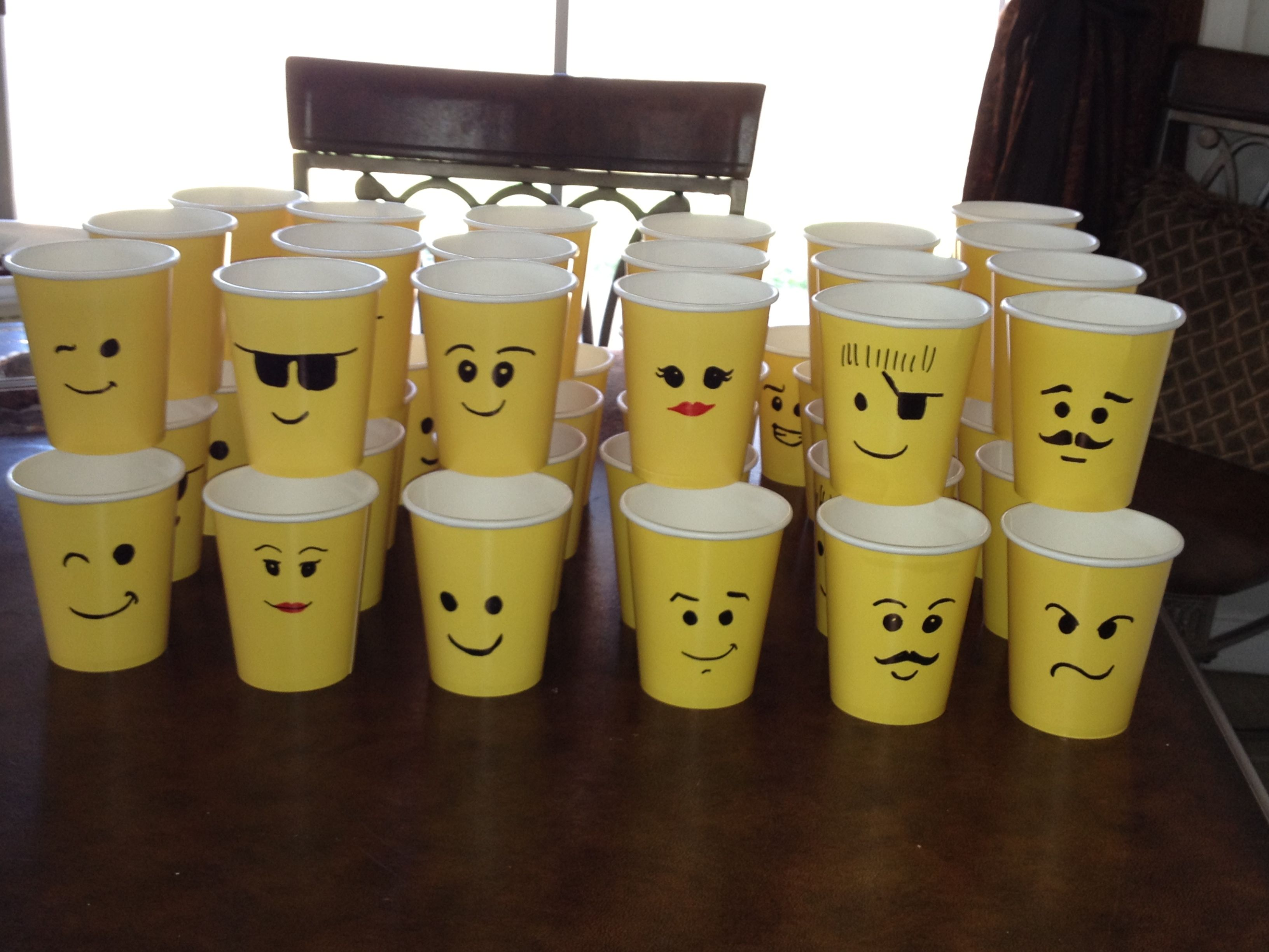 Lego Face Cups ( Cups Ten For A 100)