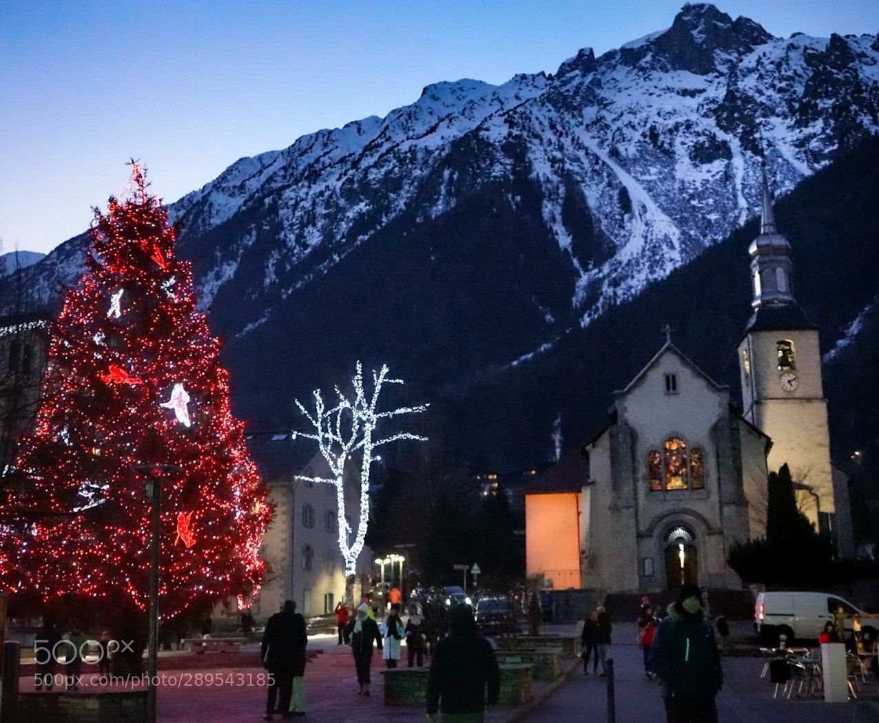 """ The Evening fell"" New year's Evening fell over Chamonix ..."