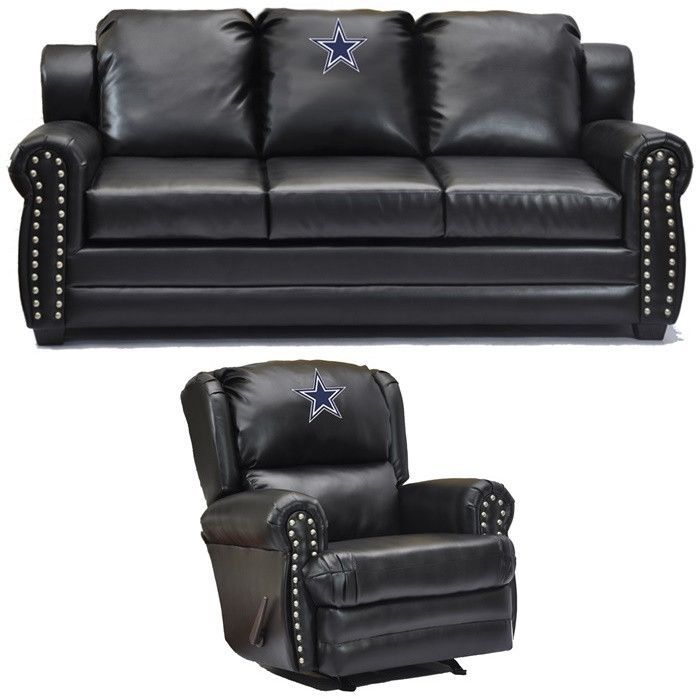 Dallas Cowboys Nfl Coach Leather Furniture Set Leather Furniture