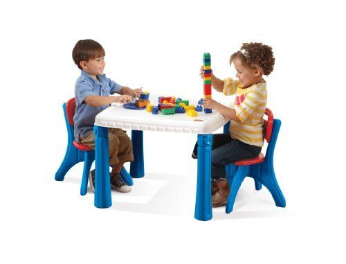 Step2 Table And Chairs Set Blue Table And Chairs Table And