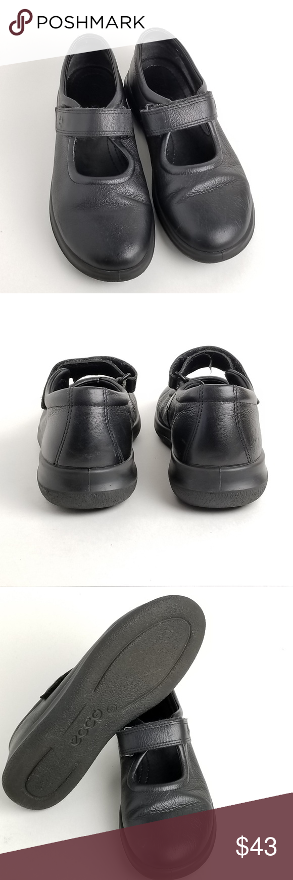 a576ea9607b7 Ecco women s Mary Jane black leather flats casual Ecco women s black leather  adjustable strap casual and comfortable Mary Jane. like❤add to bundle🛍send  me ...