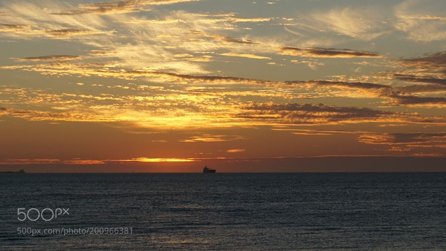 #nature The ship is sailing into the deep sea fallowing the sun... by Ewunchik