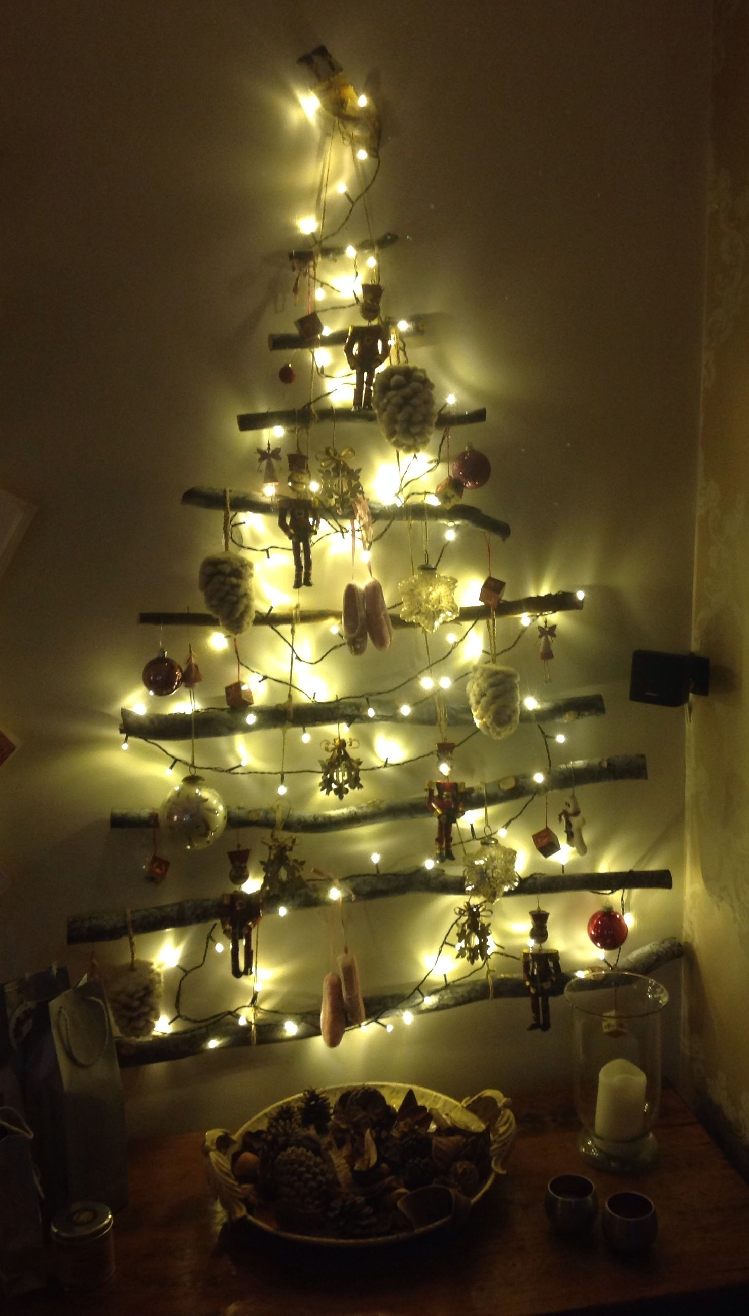 Well here's my tree for this year, finally made and up. Looks lovely so definitely worth the effort.  Photo (c) Beverley Hicklin.